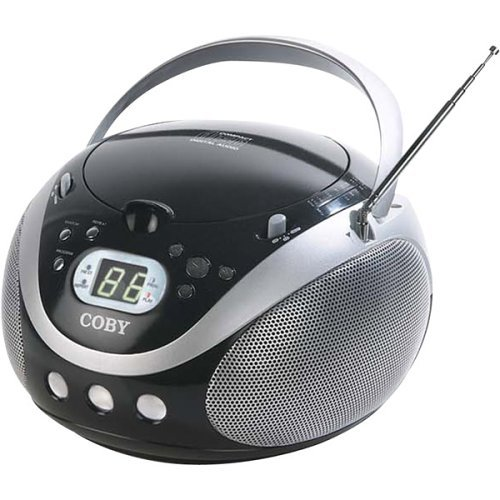 Coby CX-CD241 Portable CD Player with AM/FM Stereo Tuner, Black