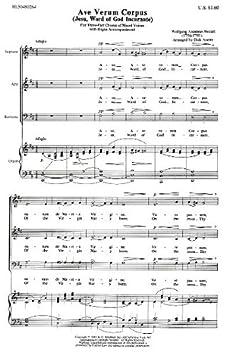 partition orgue ave verum mozart