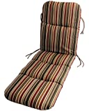 Sunbrella Outdoor Chaise Cushion by Comfort Classic in Brannon Redwood