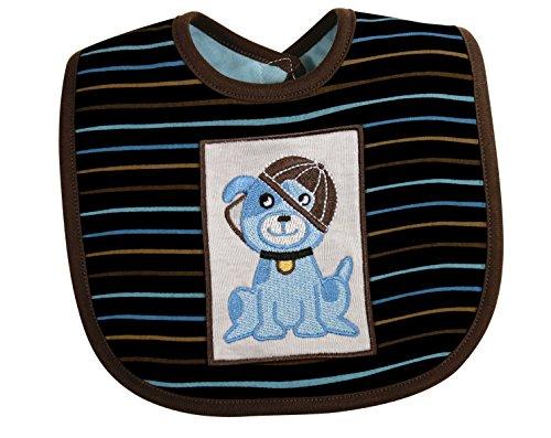 Stephan Baby Dog Bib, Blue, 0-3 Months
