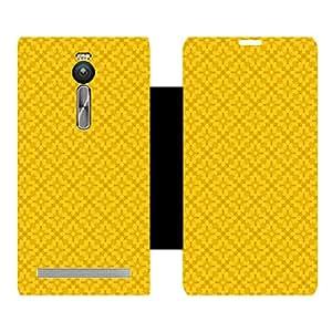 Skintice Designer Flip Cover with hi-res printed Vinyl sticker wrap-around for Asus Zenfone 2 ZE551ML