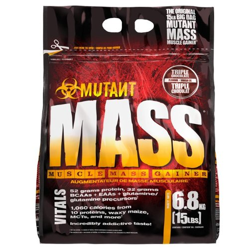 PVL Mutant Mass 6800 g Chocolate Weight Gain Shake Powder
