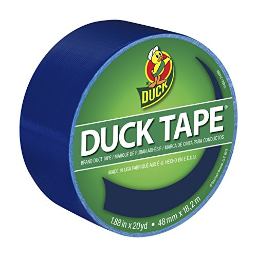 Duck Brand 1304959 Color Duct Tape, Blue, 1.88-Inch by 20 Yards, Single Roll