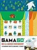 GAMAGO Mix & Match Stationery: 16 Stationery Sheets & Envelopes + Stickers