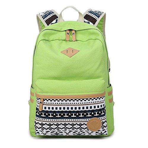 JSbetter Canvas Rucksack,Leinwand Freizeit Rucksack Vintage Travel Bag Sporttasche Bag Schultasche Rucksack Umhaengetasche fuer die Schule