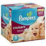 Pampers Diapers, Size 5 (27+ lb), Sesame Street 72 diapers