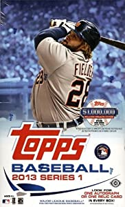 2013 Topps Series #1 Baseball Unopened Factory Sealed Hobby Box of 36 Packs and... by Unopened Blaster Box of Packs
