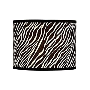 Zebra Print Barrel Lamp Shade From Destination Lighting by Design Classics