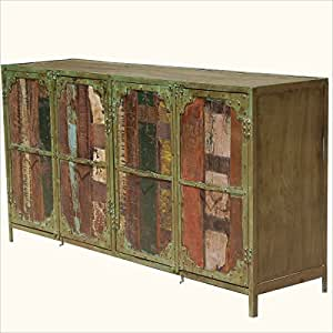 appalachian rustic distressed multi colored 4. Black Bedroom Furniture Sets. Home Design Ideas