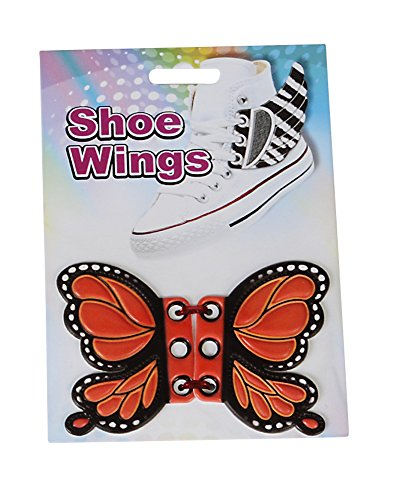 Orange Butterfly Shoe Wings Shwings Lace Boot Sneaker Costume Accessory