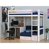 Thuka-Hochbett-90x200-Kiefer-massiv-Bett-Kinderbett-Gstebett-Schreibtisch