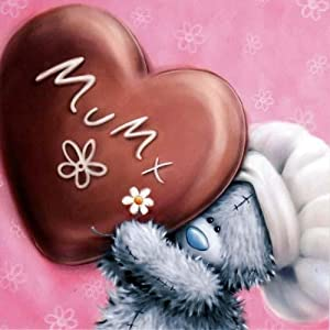 Chocolate Heart Mothers Day Me to You Bear Card