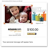 Amazon Gift Card Upload Your Photo - Birthday ~ Amazon