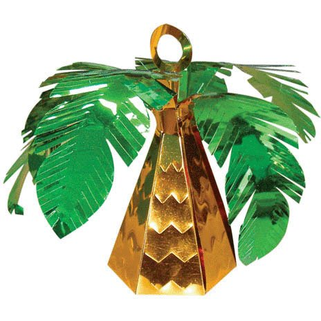 Amscan Cute Palm Tree Shaped Birthday Balloon Weight, 6.0 oz, Green/Brown