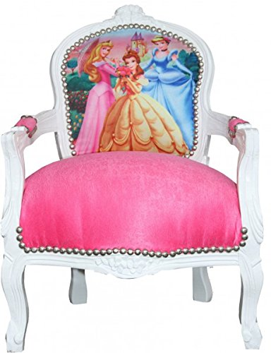 Casa Padrino Baroque Highchair Pink / White princess chair - chair