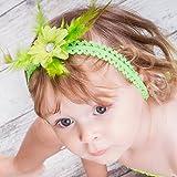 Cinta de pelo para bebé, diseño de niña, modelo Marguerite plumas