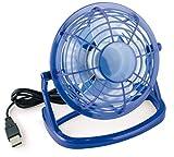 mumbi Mini ventilateur usb Fan de bureau Bleu ordinateur - interrupteur Marche /Arr�t - Poign�e de 360 degr�s.