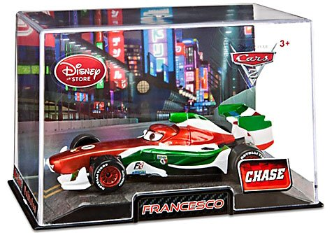 Disney / Pixar CARS 2 Movie Exclusive 148 Die Cast Car In Plastic Case FRANCESCO Metallic CHASE Edition!
