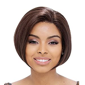 JANET Human Hair Lace Front Wig HH-CHERI- Color #1B/30 - Off Black/Medium Brown Red