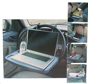 Relaxdays KFZ Mehrzweckablage Auto Ablage Laptop Notebook Tisch Lenkrad Sitz Halterung