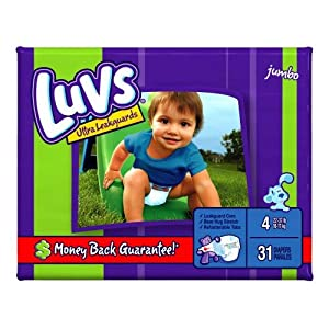 Luvs Ultra Leakguards Diapers, Size 4 31-Count (Pack of 4)