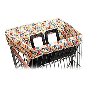 skip hop shopping cart cover multicolored leaves baby shopping cart covers baby. Black Bedroom Furniture Sets. Home Design Ideas