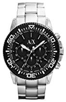 Armani Exchange Silver Bezel Chronograph Watch