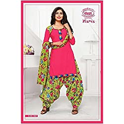 Vivel Women's Unstitched Cotton dress material (SS_16_Pack of 1_Large)