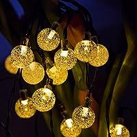 50 LED Solar String Lights Waterproof Solar Garden Lights Panpany 22ft Crystal Ball Chrismas Decorative Lighting for Garden, Patio, Yard, Home, Chrismas Tree, Parties(Warm White) by Panpany