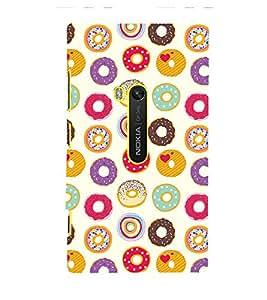 Circle Pattern Cute Fashion 3D Hard Polycarbonate Designer Back Case Cover for Nokia Lumia 920