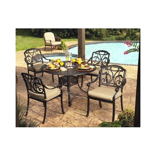 Amazon com veranda classics fg snp5ds san paulo 5 piece dining set outdoor and patio