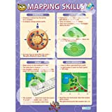 Mapping Skills Geography Educational Wall ChartPoster in laminated paper A1 850mm x 594mm