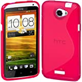 Cimo S-Line Back Case Flexible TPU Cover for HTC One X, One X+ - Pink