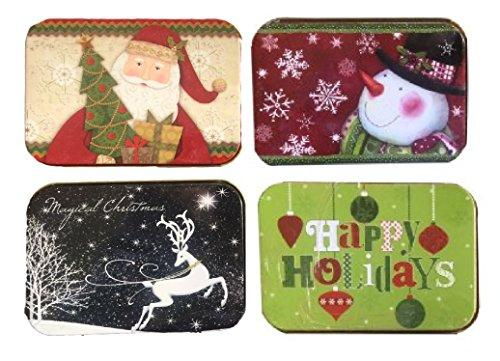 christmas-gift-card-holders-tin-box-santa-snowman-reindeer-happy-holidays-4-pack