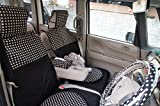 DBC 前席用カーシート(1席分) 軽自動車・小型車汎用 ブラック(マーブル)