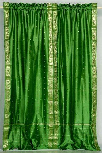 Forest green drapes forest green forest green drapes for Forest green curtains drapes