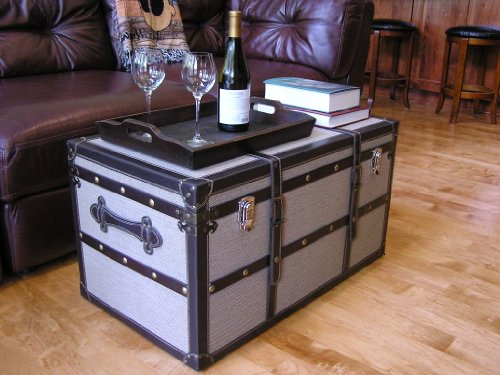 Decorative Vienna Large Wood Steamer Trunk Wooden Treasure Hope Chest 1