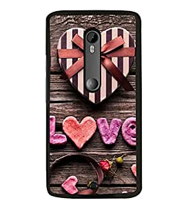 Love 2D Hard Polycarbonate Designer Back Case Cover for Motorola Moto X Style :: Moto X Pure Edition