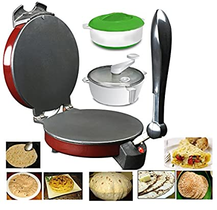 Spice Maxx Multi Utility Non Stick Roti And Khakra Maker (With Atta Maker & Free Casserole)