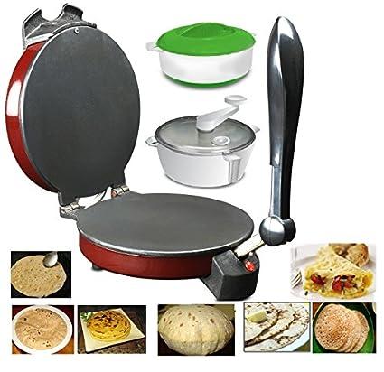 Spice-Maxx-Multi-Utility-Non-Stick-Roti-And-Khakra-Maker-(With-Atta-Maker-&-Free-Casserole)