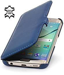 buy Stilgut® Book Type With Clip, Genuine Leather Case, Cover For Samsung Galaxy S6 Edge, Midnight Blue