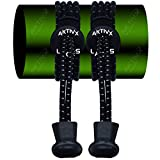 AKTIVX SPORTS No Tie Shoe Laces for Golf Shoes - Voted The #1 Golf Gift of 2016 - Top Golf Accessories for Golfers - Replacement Golfing Shoelaces & Golf Equipment, Black