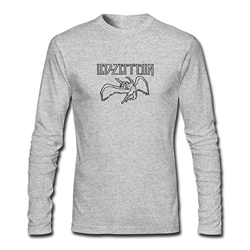 Led Zeppelin long sleeve Tops T shirts -  Maglia a manica lunga  - Uomo Gray XXX-Large