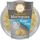 Krunchy Melts' Sugar Free Meringue Cookies 2 oz Tub (12 Pack) (Cappuccino)