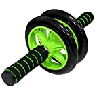 PROCIRCLE Abdominal Wheels Fitness AB Rollers Double Wheels with Foam Handles Green Color With Braking Springs