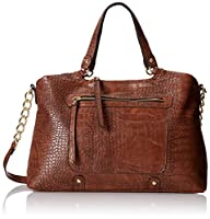 DEL MANo Large Faux Crocodile Tote by DEL MANO