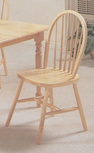 Set of natural finish farm house wood dining chair