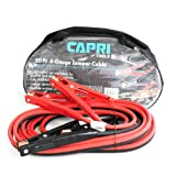 Capri Tools UL-Listed Booster Jumper Cables, 4 AWG, 20 ft long