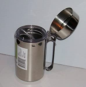 Ekco Liquid Dispenser Stainless Steel with Lid and Pourer 16 Ounces