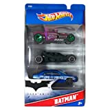 Hot Wheels - BATMAN: The Dark Knight 3x Pack of Vehicles [The Joker's Hot Rod / The Batmobile(tm) / Gotham Police Dept. Patrol Car]